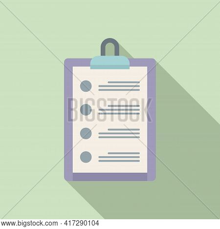 To-do List Reminder Icon. Flat Illustration Of To-do List Reminder Vector Icon For Web Design