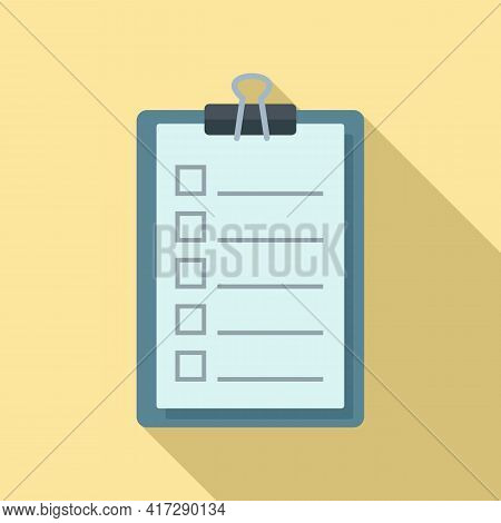 To-do List Task Icon. Flat Illustration Of To-do List Task Vector Icon For Web Design