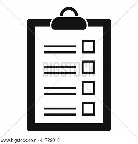Check To-do List Icon. Simple Illustration Of Check To-do List Vector Icon For Web Design Isolated O
