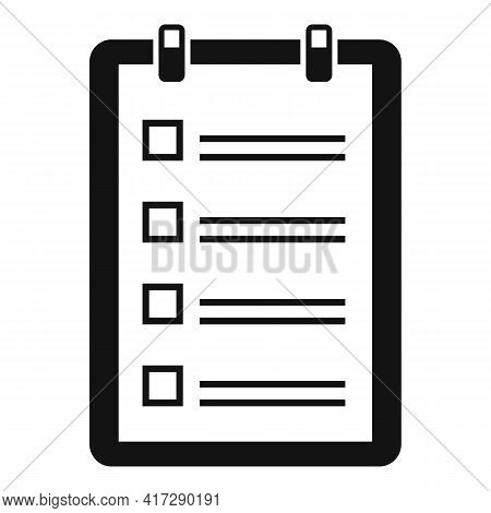 To-do List Pin Icon. Simple Illustration Of To-do List Pin Vector Icon For Web Design Isolated On Wh