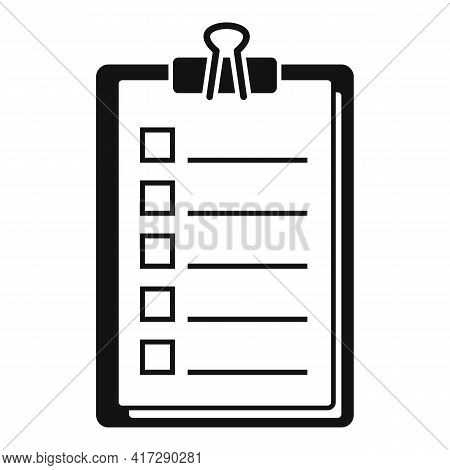 To-do List Task Icon. Simple Illustration Of To-do List Task Vector Icon For Web Design Isolated On