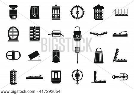Danger Animal Trap Icons Set. Simple Set Of Danger Animal Trap Vector Icons For Web Design On White