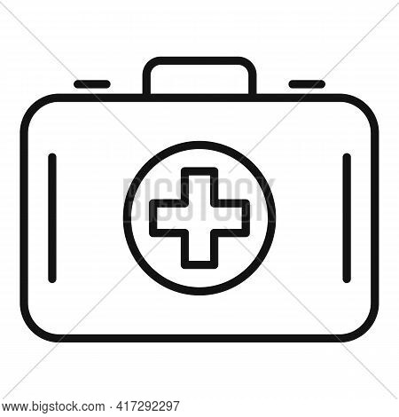 Medical Suitcase Icon. Outline Medical Suitcase Vector Icon For Web Design Isolated On White Backgro