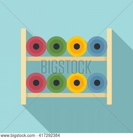 Sewing Bobine Rack Icon. Flat Illustration Of Sewing Bobine Rack Vector Icon For Web Design