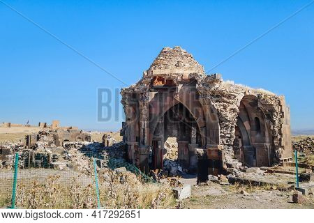 Ruins Of Church Of Holy Apostles In Medieval City Ani, Near Kars, Turkey. Built In 10 Century In For