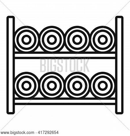 Sewing Bobine Rack Icon. Outline Sewing Bobine Rack Vector Icon For Web Design Isolated On White Bac