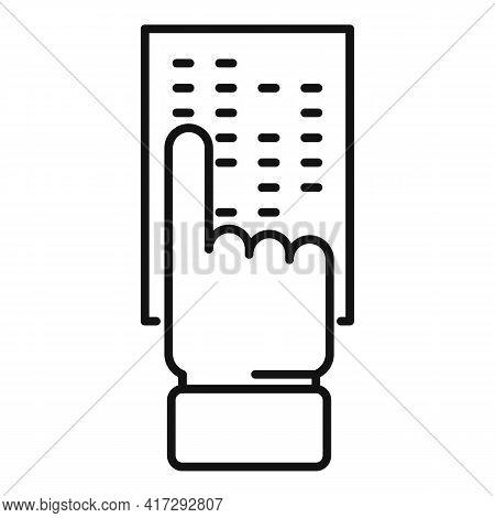 Inclusive Lesson Icon. Outline Inclusive Lesson Vector Icon For Web Design Isolated On White Backgro
