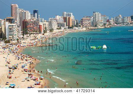 Beautiful beach in Calpe, Spain