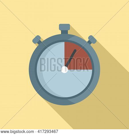 Personal Trainer Stopwatch Icon. Flat Illustration Of Personal Trainer Stopwatch Vector Icon For Web