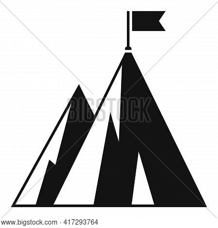 Hiking Mountain Trainer Icon. Simple Illustration Of Hiking Mountain Trainer Vector Icon For Web Des
