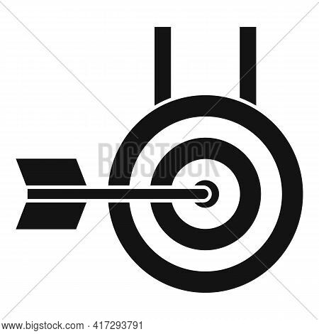 Arch Target Icon. Simple Illustration Of Arch Target Vector Icon For Web Design Isolated On White Ba
