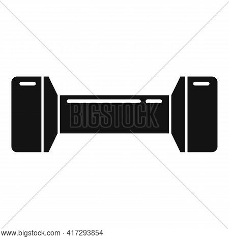 Gym Dumbbell Icon. Simple Illustration Of Gym Dumbbell Vector Icon For Web Design Isolated On White