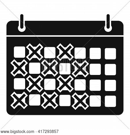 Personal Trainer Calendar Icon. Simple Illustration Of Personal Trainer Calendar Vector Icon For Web