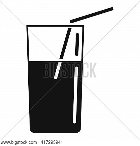 Juice Glass Icon. Simple Illustration Of Juice Glass Vector Icon For Web Design Isolated On White Ba