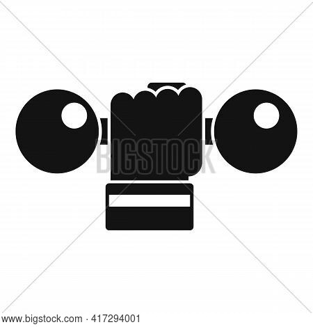Handle Dumbbell Icon. Simple Illustration Of Handle Dumbbell Vector Icon For Web Design Isolated On