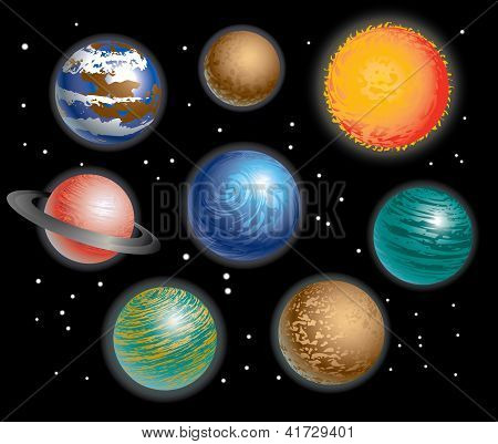 the color of each planet in solar system - photo #39