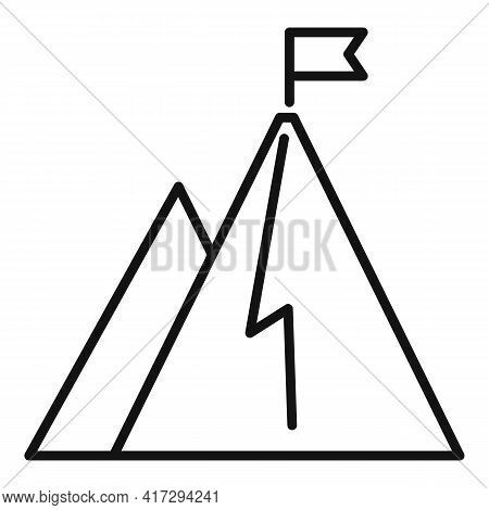 Hiking Mountain Trainer Icon. Outline Hiking Mountain Trainer Vector Icon For Web Design Isolated On