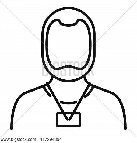 Man Personal Trainer Icon. Outline Man Personal Trainer Vector Icon For Web Design Isolated On White