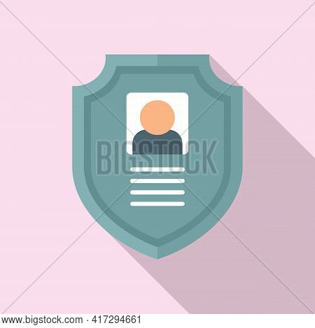Secured Personal Information Icon. Flat Illustration Of Secured Personal Information Vector Icon For