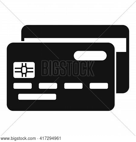 Bank Card Personal Information Icon. Simple Illustration Of Bank Card Personal Information Vector Ic