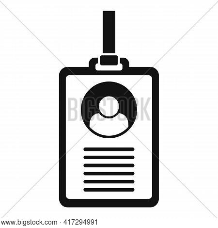 Personal Information Id Card Icon. Simple Illustration Of Personal Information Id Card Vector Icon F
