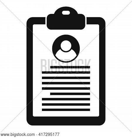 Personal Information Clipboard Icon. Simple Illustration Of Personal Information Clipboard Vector Ic