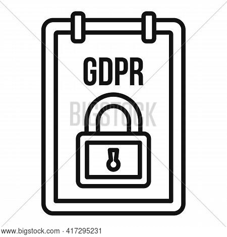 Gdpr Personal Information Icon. Outline Gdpr Personal Information Vector Icon For Web Design Isolate