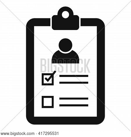 Clipboard Personal Traits Icon. Simple Illustration Of Clipboard Personal Traits Vector Icon For Web