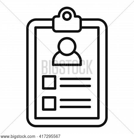 Clipboard Personal Traits Icon. Outline Clipboard Personal Traits Vector Icon For Web Design Isolate