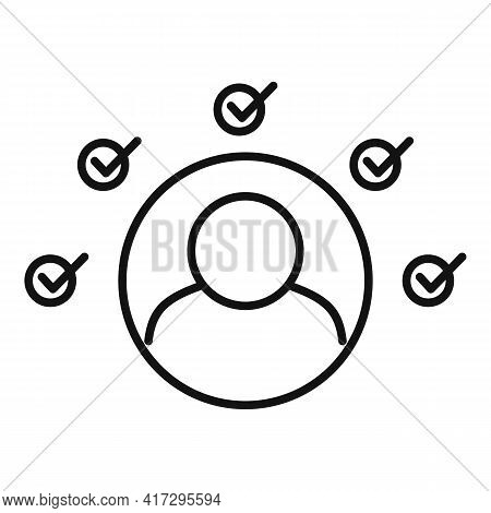 Multiple Personal Traits Icon. Outline Multiple Personal Traits Vector Icon For Web Design Isolated