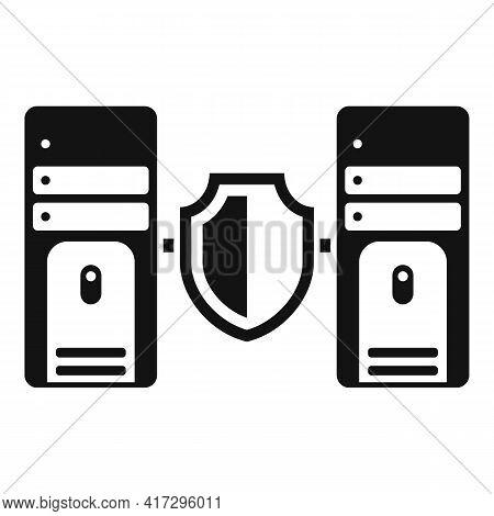 Server Authentication Icon. Simple Illustration Of Server Authentication Vector Icon For Web Design