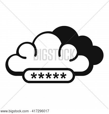 Cloud Authentication Icon. Simple Illustration Of Cloud Authentication Vector Icon For Web Design Is