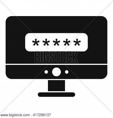 Pc Login Authentication Icon. Simple Illustration Of Pc Login Authentication Vector Icon For Web Des