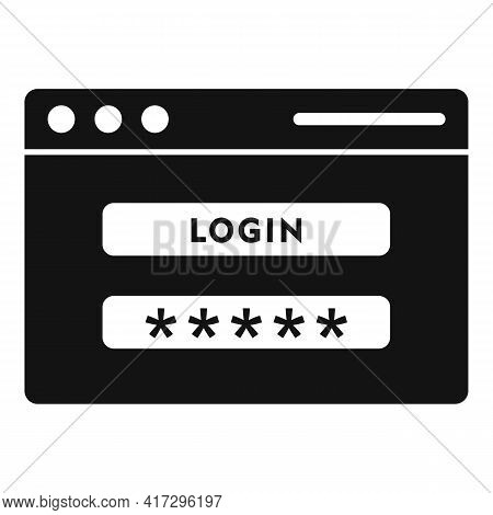 Login Page Authentication Icon. Simple Illustration Of Login Page Authentication Vector Icon For Web
