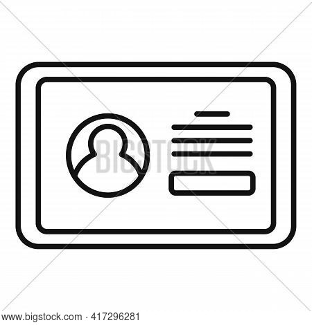 Tablet Authentication Icon. Outline Tablet Authentication Vector Icon For Web Design Isolated On Whi