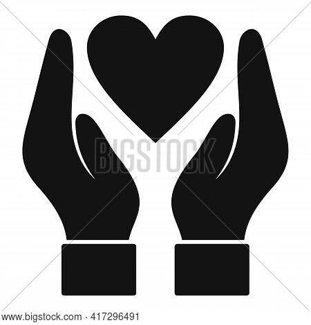 Keep Heart Icon. Simple Illustration Of Keep Heart Vector Icon For Web Design Isolated On White Back
