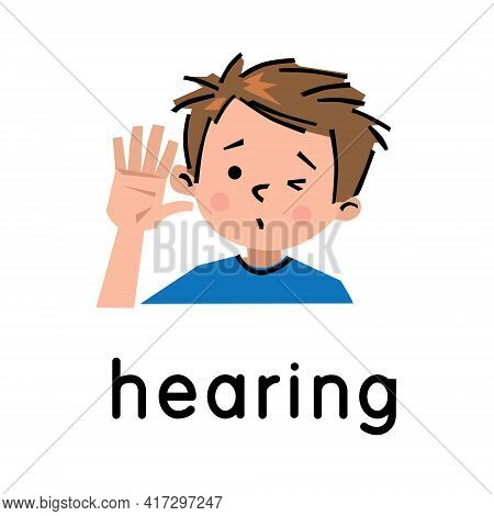 Hearing. Icon Of One Of Five Senses