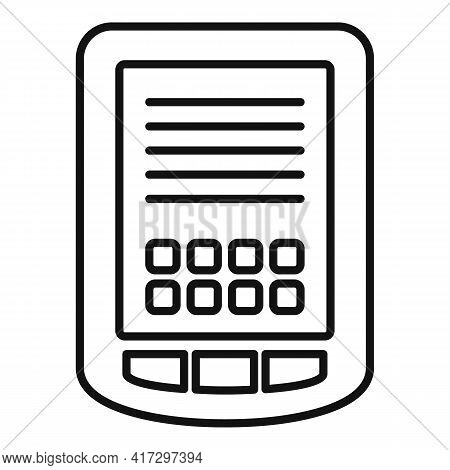 Tablet Operating System Icon. Outline Tablet Operating System Vector Icon For Web Design Isolated On