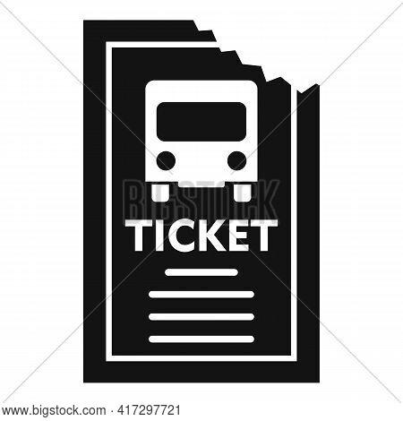 Public Bus Ticket Icon. Simple Illustration Of Public Bus Ticket Vector Icon For Web Design Isolated