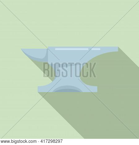 Metallurgy Anvil Icon. Flat Illustration Of Metallurgy Anvil Vector Icon For Web Design