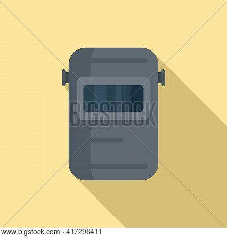 Welder Mask Icon. Flat Illustration Of Welder Mask Vector Icon For Web Design