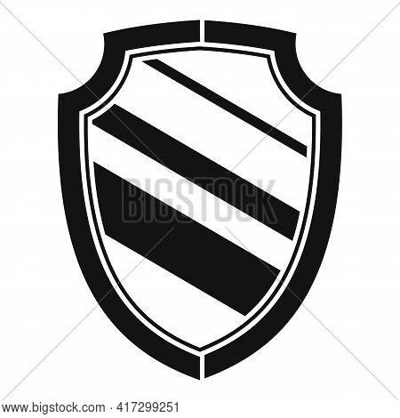 Blacksmith Shield Icon. Simple Illustration Of Blacksmith Shield Vector Icon For Web Design Isolated