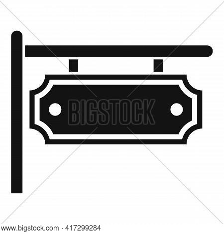 Blacksmith Street Board Icon. Simple Illustration Of Blacksmith Street Board Vector Icon For Web Des