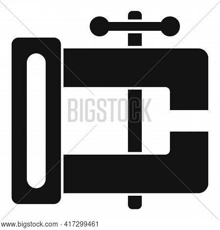 Blacksmith Vise Icon. Simple Illustration Of Blacksmith Vise Vector Icon For Web Design Isolated On
