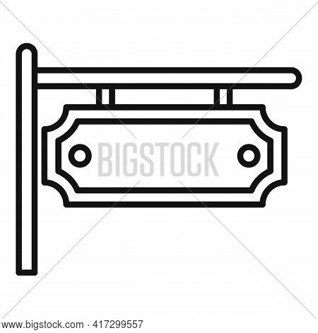 Blacksmith Street Board Icon. Outline Blacksmith Street Board Vector Icon For Web Design Isolated On