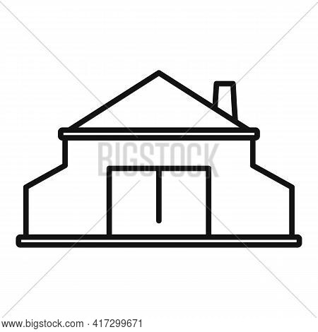 Blacksmith Building Icon. Outline Blacksmith Building Vector Icon For Web Design Isolated On White B