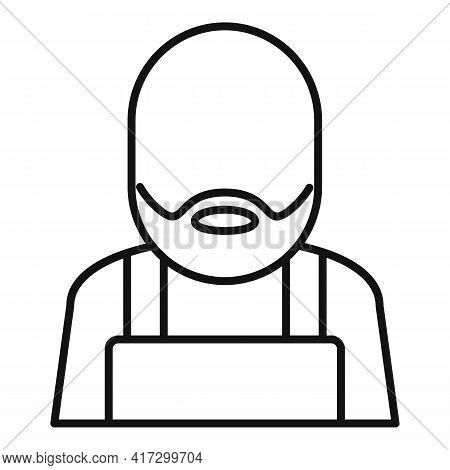 Blacksmith Man Icon. Outline Blacksmith Man Vector Icon For Web Design Isolated On White Background