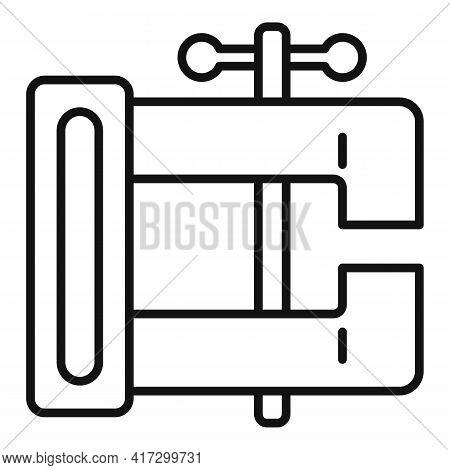 Blacksmith Vise Icon. Outline Blacksmith Vise Vector Icon For Web Design Isolated On White Backgroun