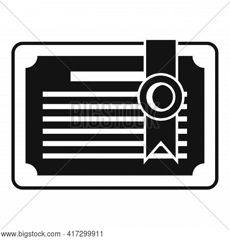 Attestation Diploma Icon. Simple Illustration Of Attestation Diploma Vector Icon For Web Design Isol