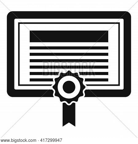 Attestation Certificate Icon. Simple Illustration Of Attestation Certificate Vector Icon For Web Des
